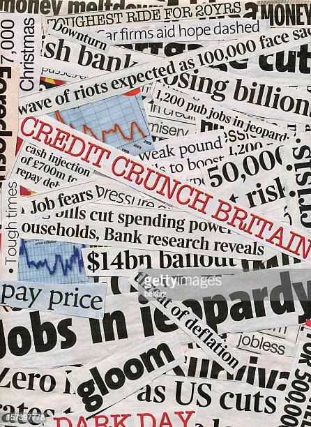 credit crunch - front page stock photos and pictures