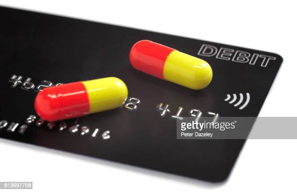 Credit debit card with prescription drugs