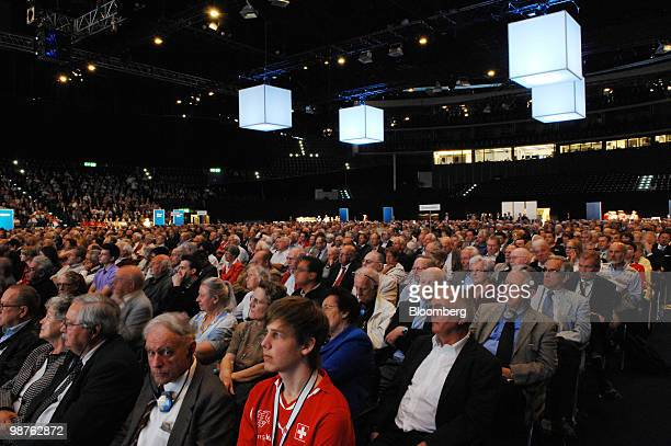 Credit Suisse AG shareholders attend the bank's annual shareholders' meeting in Zurich Switzerland on Friday April 30 2010 Credit Suisse has reported...