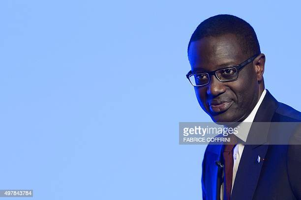 Credit Suisse CEO Tidjane Thiam is pictured at the end of an extraordinary shareholders meeting of the Swiss banking group on November 19 2015 in...