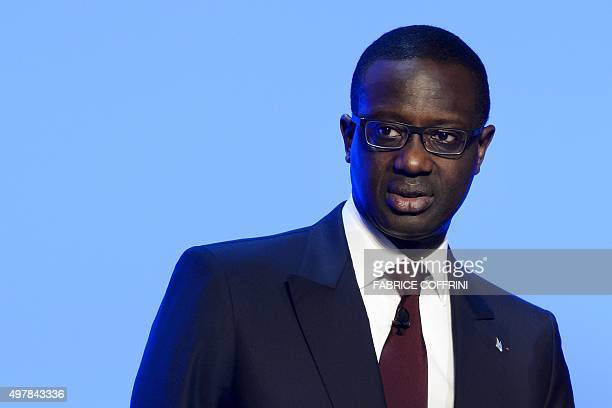 Credit Suisse CEO Tidjane Thiam looks on at the end of an extraordinary shareholders meeting of the Swiss banking group on November 19 2015 in Bern...