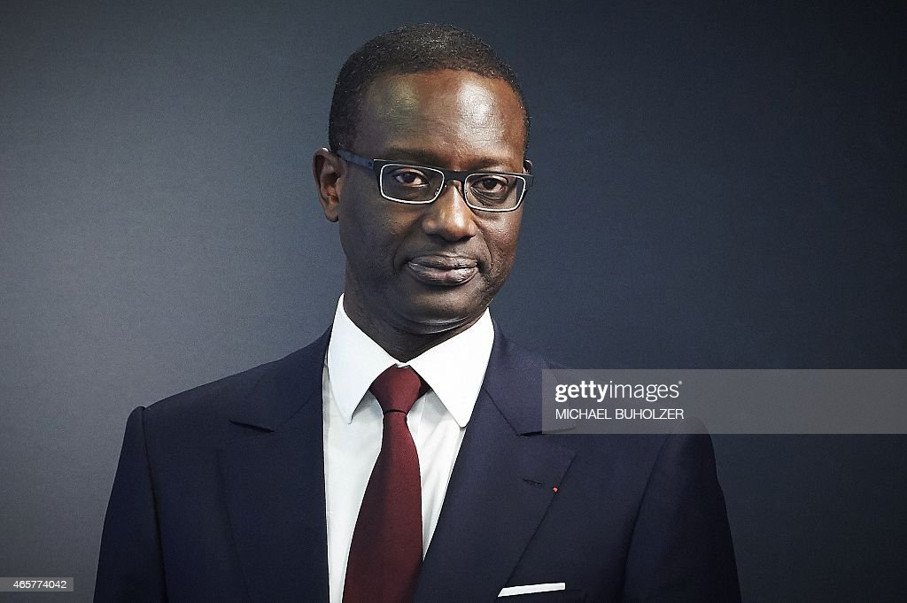 Credit Suisse designated CEO Tidjane Thiam poses for photographers after a press conference on March 10, 2015 in Zurich after Credit Suisse announced that Thiam, currently chief of UK-based insurer Prudential, will take over as chief executive from Brady Dougan who will step down at the end of June.