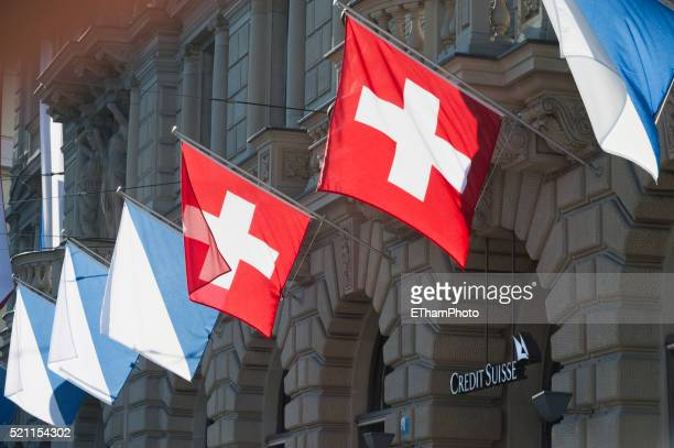 credit suisse headquarters on paradeplatz in zurich - swiss culture stock pictures, royalty-free photos & images
