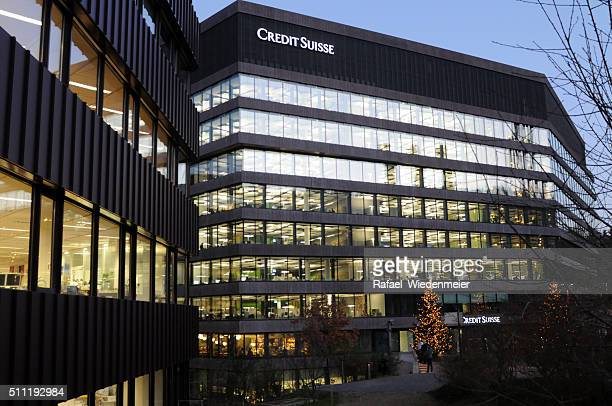 credit suisse uetlihof entrance - credit suisse stock pictures, royalty-free photos & images