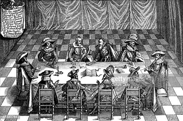 Credited by the broadside as being in attendance are Oliver St John 1st Viscount Grandison Sir George Carew 1st Earl of Totnes Fulke Greville 1st...