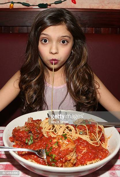 Cree Cicchino promotes Nickelodeon's Game Shakers with a meet and greet with children from The Kids League at Buca di Beppo Times Square on January 6...