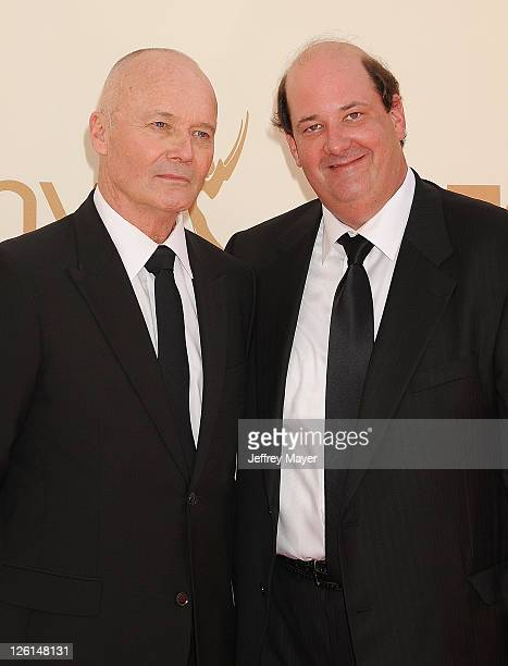 Creed Bratton and Brian Baumgartner arrive at the 63rd Primetime Emmy Awards at the Nokia Theatre L.A. Live on September 18, 2011 in Los Angeles,...