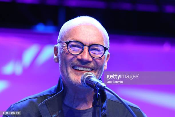 Creed Bratton speaks onstage during the Office Reunion panel at 2019 Los Angeles Comic-Con at Los Angeles Convention Center on October 12, 2019 in...