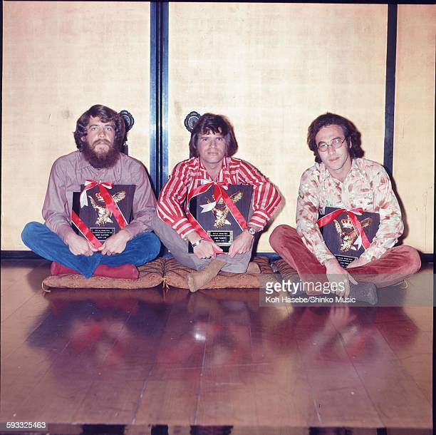 Creedence Clearwater Revival presented a shield of Music Life Magazine Readers Poll GREATEST MUSICIAN OF THE YEAR 1972 Tokyo February 1972