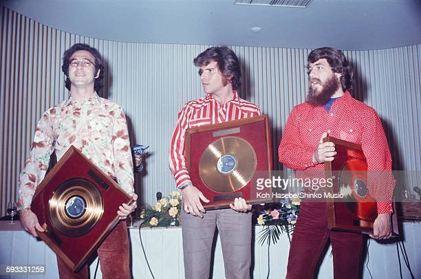 Creedence Clearwater Revival presented gold disc Tokyo February 1972