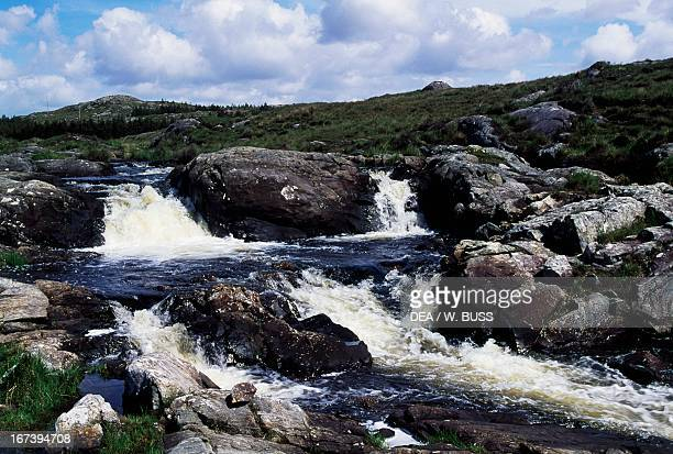A creek near Lough Atalia Connemara County Galway Ireland