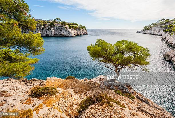 calanques - bouches du rhone stock pictures, royalty-free photos & images