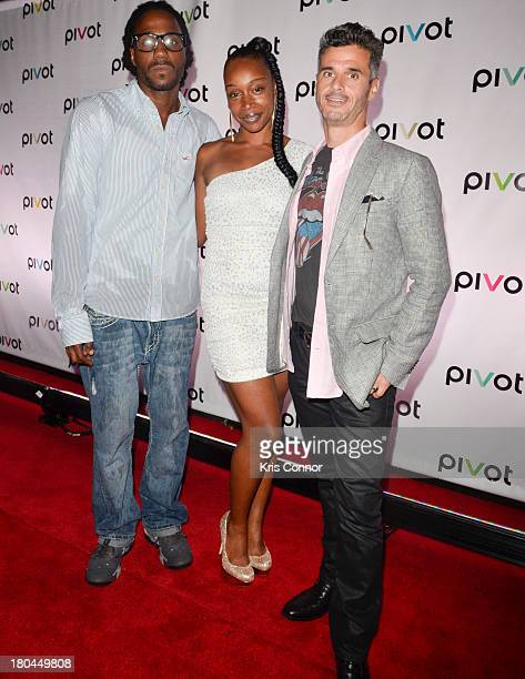 "Creep Evans, Jayda Jacques and Evan Shapiro attends ""Jersey Strong"" Series New York Premiere at Tribeca Cinemas on September 12, 2013 in New York..."