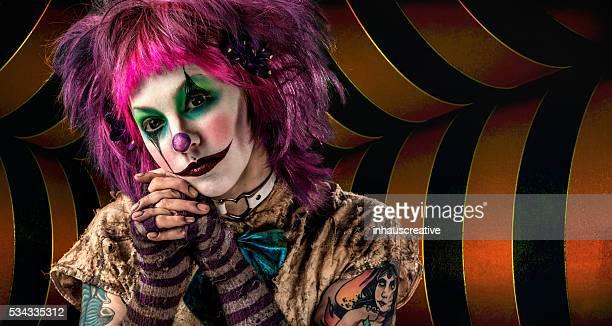 Creepy Female Clown portrait
