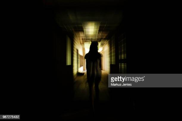 creepy hallway - ghost stock pictures, royalty-free photos & images