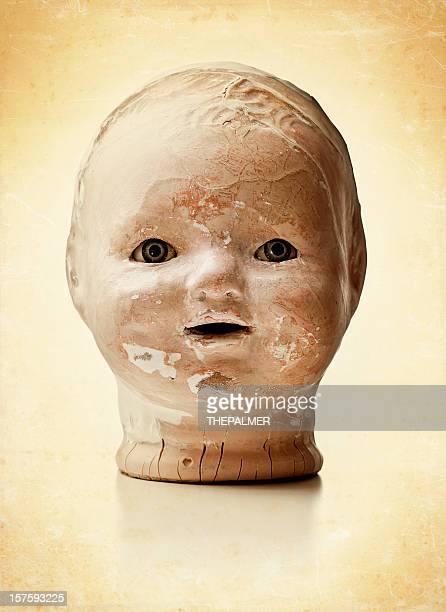 creepy old doll head