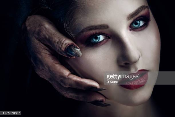 creepy portrait of beautiful woman - magic eye stock pictures, royalty-free photos & images