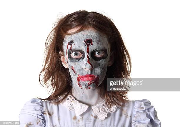 creepy zombie - zombie girl stock photos and pictures