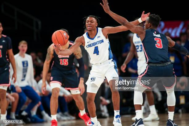 Creighton guard Shereef Mitchell steals the ball from St Johns guard Rasheem Dunn during the game between the St Johns University Red Storm and the...