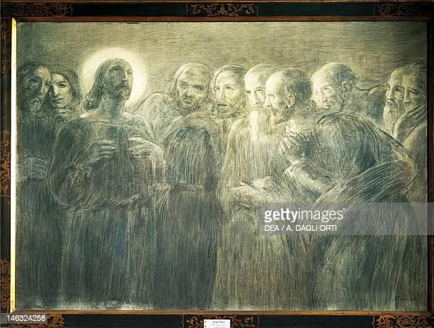 Crema, Museo Civico Christ among the Apostles, by Gaetano Previati , charcoal on canvas.