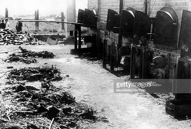 Cremation furnaces in the German concentration camp of Birkenau-Auschwitz, reached by troops of the IV Army. Birkenau, February 1945