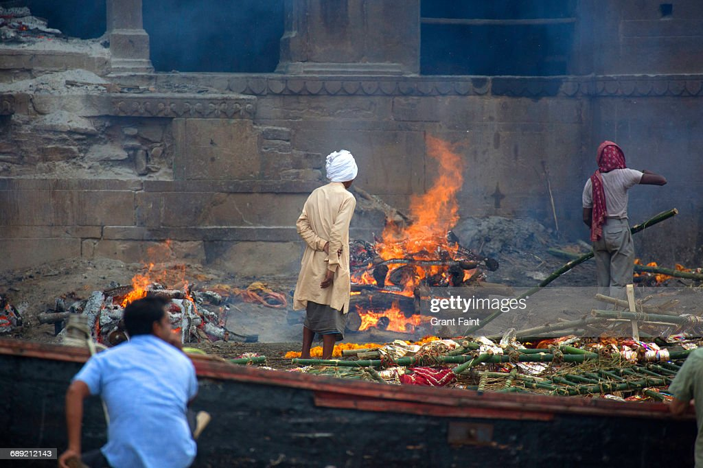 Cremation ghats. : Stock Photo
