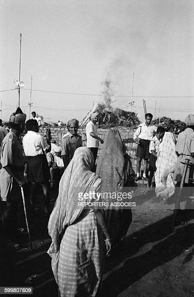 Cremation of Nehru in Accordance With Hindu Rites On the Banks Of the Yamuna River in India on May 29 1964