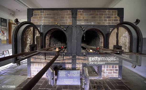 Crematorium ovens are pictured at the former Nazi concentration camp Mauthausen northern Austria on April 28 2015 AFP PHOTO / JOE KLAMAR