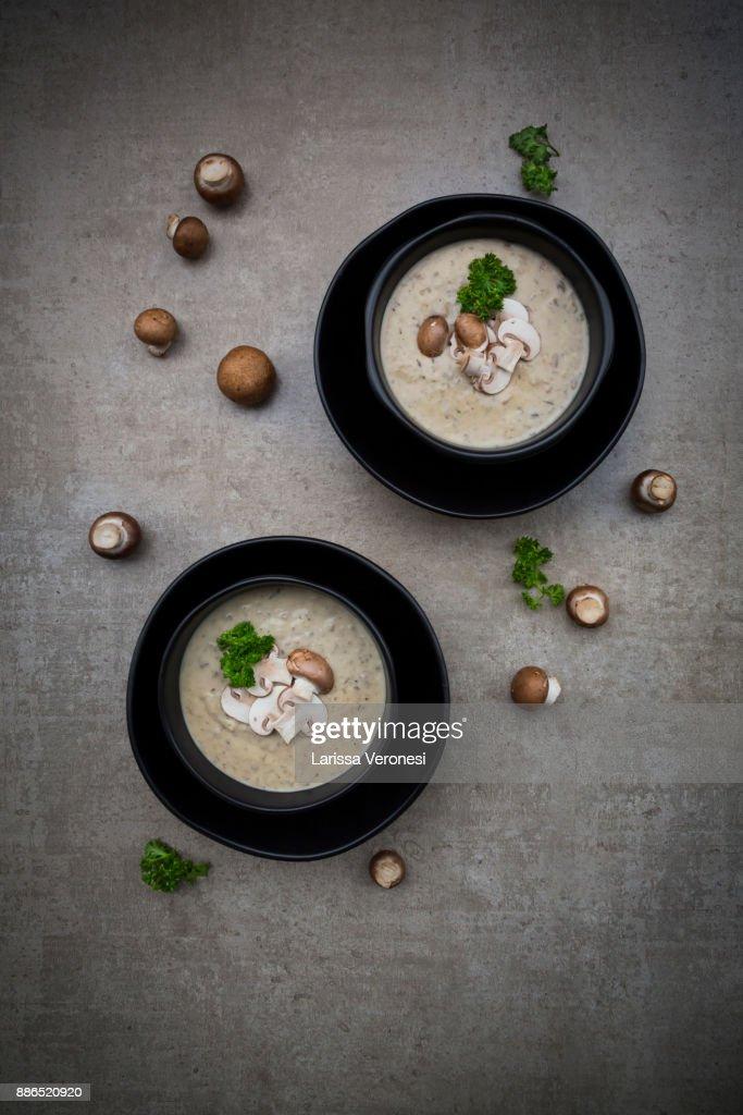 Creme of mushroom soup : Stock-Foto