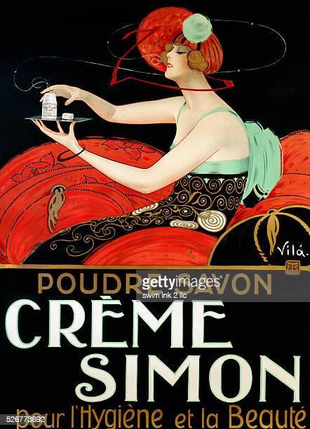 Creme Simon Poster by Vila