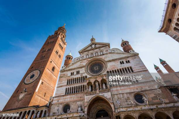 cremona cathedral and the torrazzo - cremona stock pictures, royalty-free photos & images