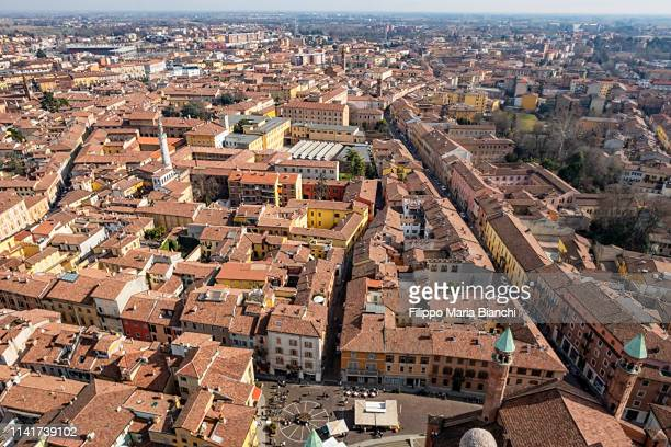 cremona from above - cremona stock pictures, royalty-free photos & images