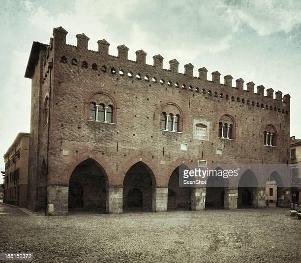 cremona, italy-cittanova palace - cremona foto e immagini stock