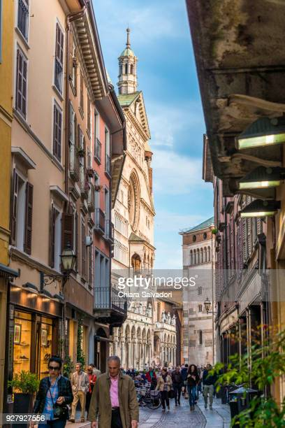 cremona old town and the cathedral - cremona stock pictures, royalty-free photos & images