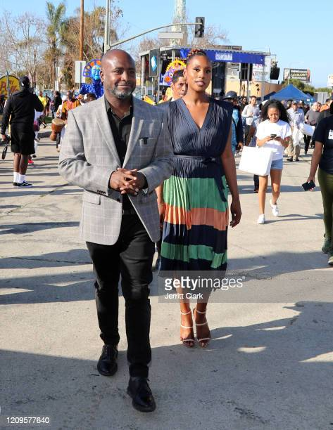 Crenshaw Councilmember Marqueece HarrisDawson and Issa Rae attend Destination Crenshaw Groundbreaking Event with over 2000 community residents...