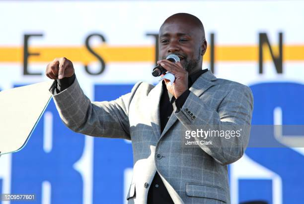 Crenshaw Councilmember Marqueece HarrisDawson speaks at Destination Crenshaw Groundbreaking Event with over 2000 community residents including Emmy...