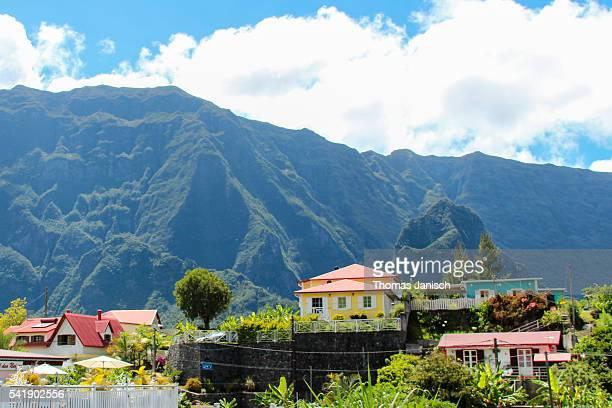 Creole villas in Cilaos, Reunion island