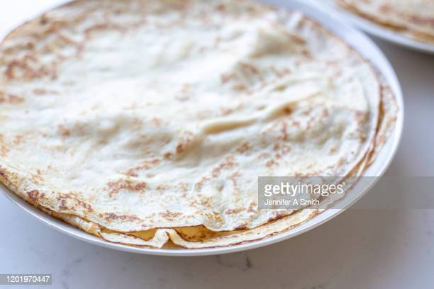 crepes - pancake day stock pictures, royalty-free photos & images