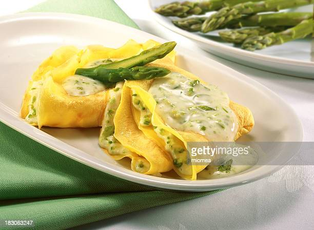 crepes with asparagus