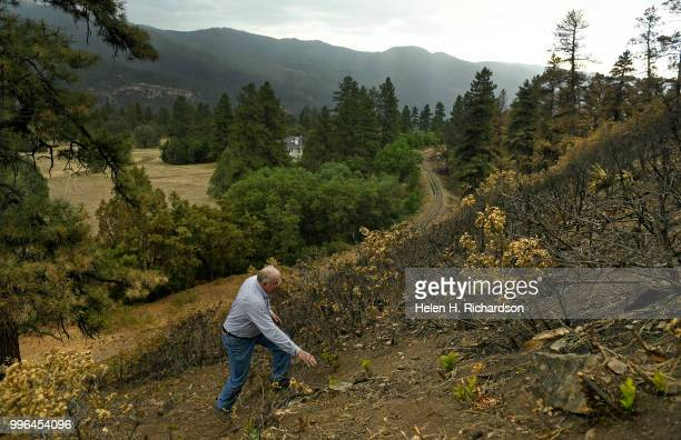 Cres Fleming hikes up the hill in the exact area where he says the 416 fire started on July 10 2018 near Hermosa Colorado Evidence is suggesting that...