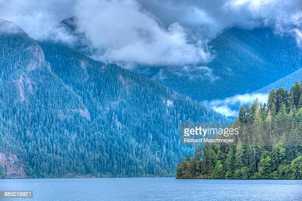 Cresent Lake, Aurora Ridge in the background, Olympic National Park, UNESCO World Heritage Site, Washington, United States of America, North America