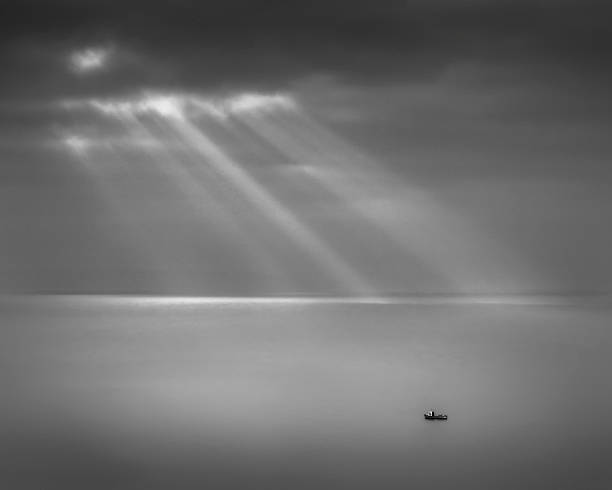 Crespecular rays over Bristol Channel