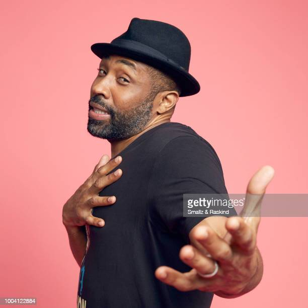 Cress Williams from CW's 'Black Lightning' poses for a portrait at the Getty Images Portrait Studio powered by Pizza Hut at San Diego 2018 Comic Con...