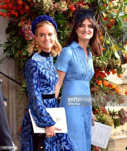 Cressida Bonas after the wedding of Princess Eugenie to Jack Brooksbank at St George's Chapel in Windsor Castle on October 12 2018 in Windsor England