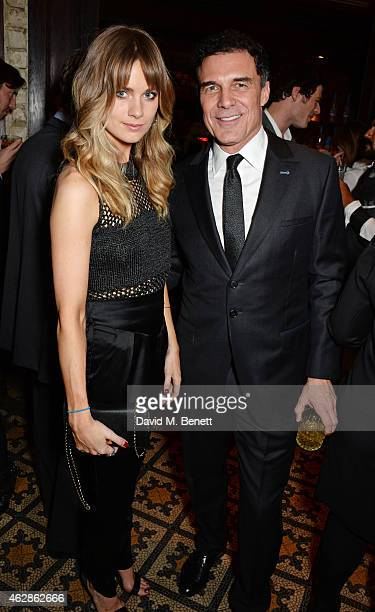 Cressida Bonas and Andre Balazs attend Harvey Weinstein's BAFTA Dinner in partnership with Burberry GREY GOOSE at Little House Mayfair on February 6...