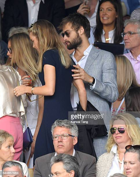 Cressida Bonas and Douglas Booth attend day eight of the Wimbledon Tennis Championships at Wimbledon on July 04 2016 in London England