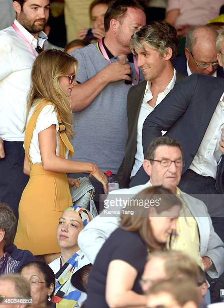 Cressida Bonas and George Lamb attend day eleven of the Wimbledon Tennis Championships at Wimbledon on July 10 2015 in London England
