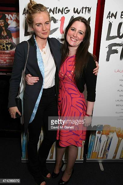 Cressida Bonas and LauraJane Foley attend the press night performance of 'An Evening With Lucian Freud' at the Leicester Square Theatre on May 21...
