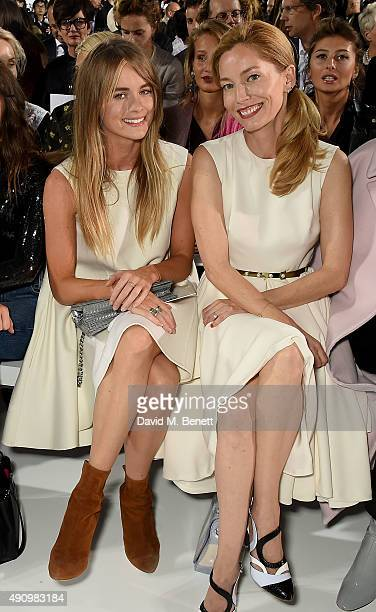 Cressida Bonas and Lucie de la Falaise attend the Christian Dior show as part of the Paris Fashion Week Womenswear Spring/Summer 2016 on October 2...