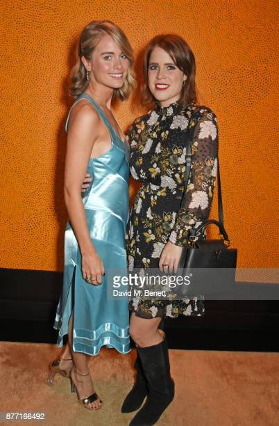 Cressida Bonas and Princess Eugenie of York attend Louis Vuittons Celebration of GingerNutz in Vogue's December Issue on November 21 2017 in London...